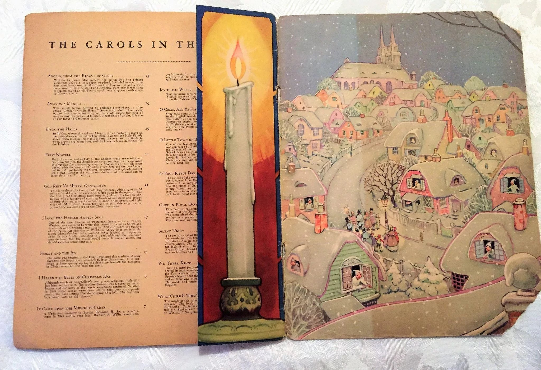 1942 Christmas Carols Book Karl Schulte Piano Sheet Music w ...