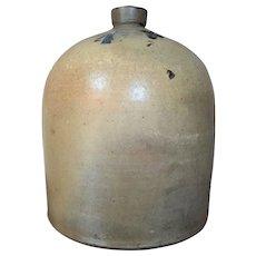 "14""x11""  17 LBS. Stoneware Jug 4 gal. Cobalt Salt Glaze Antique"