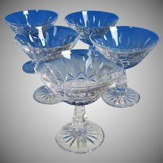 FIVE Waterford Rosslare Champagne Sherbet Martini NEVER USED Limited Edition