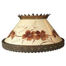 Lamp kerosene shade furniture lighting ruby lane 14 victorian hanging lamp shade hand painted 1880s kerosene lamp mozeypictures Gallery