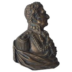 c.1860's Winfield Scott High Relief Copper Wall Plaque BUST PORTRAIT