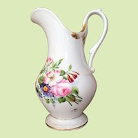 "Victorian 12""  French Porcelain Pitcher c.1850-80 Hand Painted  Gorgeous MUST SEE"