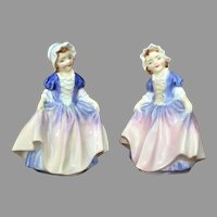 PAIR 1950's Figurine Royal Doulton Statue Dinky Do England