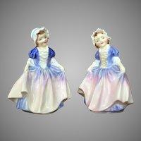 PAIR 1950's Royal Doulton Dinky Do Figurine England