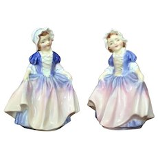 PAIR 1950's Royal Doulton Dinky Do Figurine England