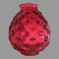 "10 1/2""x 9"" Victorian 1860-80 Lamp Shade Globe Hobnail  Oil Lamp Kerosene Lamp GORGEOUS"