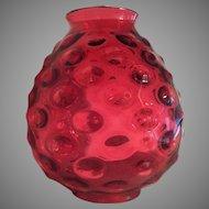 "10 1/2""x 9"" Victorian Lamp Shade Globe Hobnail 1860-80 Kerosene Lamp / Oil Lamp GORGEOUS"