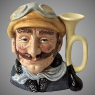 "LARGEST c.1972 Royal Doulton Toby Mug  7 1/2"" Veteran Motorist D6633 London England"