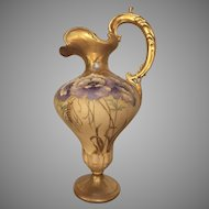 "10"" Turn Teplitz Bohemia Amphora RStK Austria Ewer Pitcher Vase"