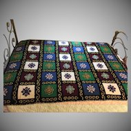 4 lbs 50yrs Wool Handmade Afghan Crocheted Needlepoint Bedspread Blanket Throw (TWO AVAILABLE)