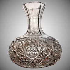Very Rare SIGNED Egginton Carafe c.1904 American Brilliant Period