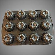 Vintage Nordic Ware Bundt Cupcake Muffin Pan Heavy Aluminum Non Stick
