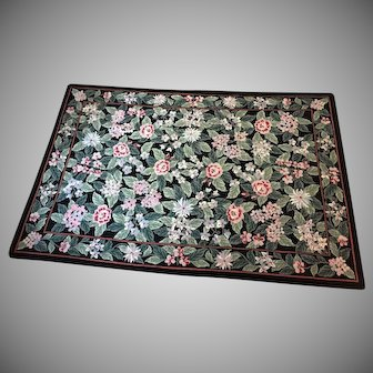 """8' x 5'8""""  Vintage Couristan Hand Hooked Wool French Aubusson Needlepoint Rug"""