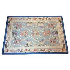 "5'10"" x 3'11"" Wool Rug Hooked HAND MADE 1940-50's"