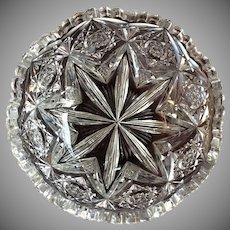 Signed Libbey Bowl Cut Glass c.1905-10 American Brilliant Period