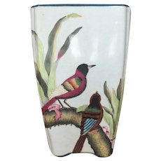 "French Cache Pot  Planter Birds  12"" x  7 1/3""  GORGEOUS"