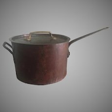 21 lbs COPACABANA NIGHTCLUB Rare c.1900 Copper Pot by V.OLAC Philadelphia Copper Pan