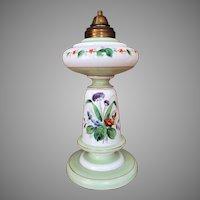 One of a kind - Boston Sandwich Lamp Kerosene Lamp / Oil Lamp 1870-1887  HOLLOW BASE