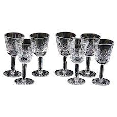 SET-7 Waterford Lismore Small Cordial - Liqueur - Cocktail  VINTAGE