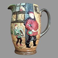 80 yrs. old Beswick England Pitcher Jug  Merry Wives of Windsor by Shakespeare LARGEST SIZE