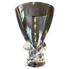 c.1955 STEUBEN Vase Spiral Pattern by Donald Pollard 6 1/2 x 5