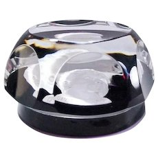 Baccarat Paperweight Crystal c.1971 Eleanor Roosevelt Cameo Limited Edition of 2500 Signed by the Artist