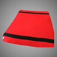 "Hudson Bay Blanket / Hudson Bay Point Blanket / Point Blanket  c.1930's FOUR POINTS  90"" x 74""  Red Black"