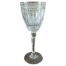 RARE SIZE 8 1/2x 3 1/4 Waterford Marquis Crystal Hanover Platinum Wine Goblet Think Holidays