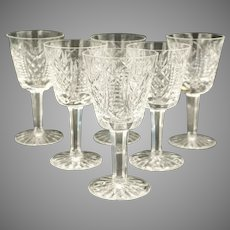 """SET-6 Waterford Sherry Cordial EXCEPTIONAL PATTERN Clare 5 1/8"""" Think Holidays"""