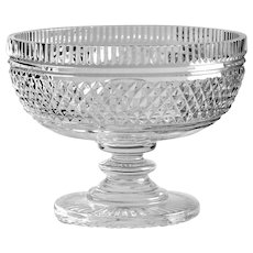 OUTSTANDING Master Cutter Footed Bowl Waterford Cut Glass Crystal Made in Ireland THINK HOLIDAYS