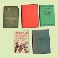 First Edition Book SET OF FIVE Hard Cover circa 1893-1938 French Revolution Noel Coward World War I