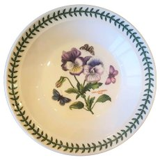 "8 1/2"" The Botanic Garden Portmeirion Rim Soup Bowl Viola Hybrida - Pansy"