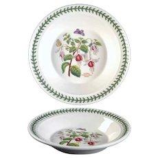 "8 1/2"" The Botanic Garden Portmeirion Rim Soup Bowl Fuchsia Magellanica - Fuchsia"