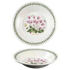 "8 1/2"" The Botanic Garden Portmeirion Rim Soup Bowl Cyclamen Repandum - Ivy Leaved Cyclamen"