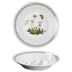 "8 1/2"" The Botanic Garden Portmeirion Rim Soup Bowl Bellis Perennis - Daisy"