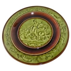 Majolica Plate RARE Choisy Le Roi H & B Cie Hautin & Boulenger France  1880-1900