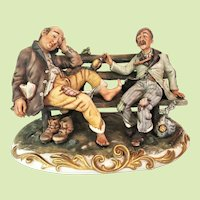 13 lbs. VERY RARE 1960's D. Bonalberti  Figurine Capodimonte  - from his Works of Art Collection  Italy - Numbered - Early Work