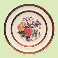 SET-4 Copeland Spode Plates  c.1920-30 England COPPER TRIM Dinner Plate - Rare Pattern