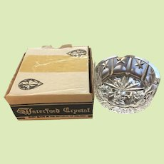 NEW IN BOX c.1960's Waterford Ashtray - Crystal Cut Glass - Retired Pattern - Use as Paperweight
