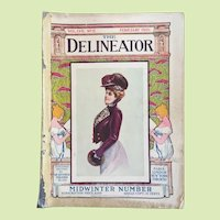 The Delineator FEB. 1901 Victorian Fashion Prints Valentine Recipes Patterns  -- ALL COMPLETE