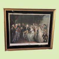 "EXTREMELY RARE c.1794 Mezzotint Hand Colored King George III and the Royal Family  -- Framed  -- 27"" x  22""  by John Murphy London England United Kingdom British"