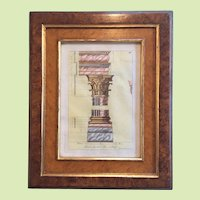 18th Century Artist Signed  Italy and England Giovanni Battista Cipriani Watercolor and Pen