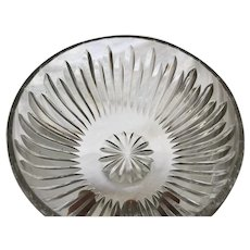c.1987 Waterford Bowl Cut Glass Crystal Signed Carina Pattern    RETIRED PATTERN
