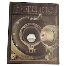 Feb. 1941  WWII  Fortune Magazine  Giusti  Military