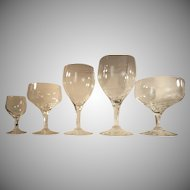 Orrefors Set-30  Champagne Wine Cordial Brandy Sherry COMPLETE SET-6 EACH