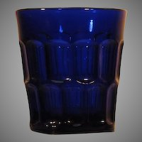 Depression Glass  Tumbler  Deep Blue  c.1930's   Three Mold