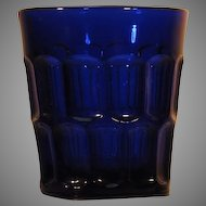 Depression Glass  Tumbler  Deep Blue  c.1930's   Three Mold