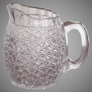Persian Russian Pattern  Cut Glass Jug  Pitcher  Crystal  c.1890's  RARE
