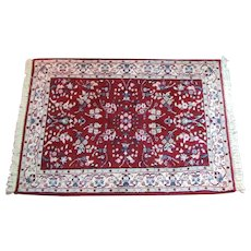 60 yrs old 4 ft x 3 ft Oriental Rug  Handmade  100% Wool  Persian Rug