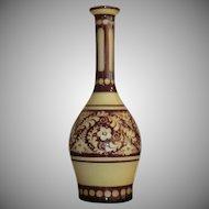 Bohemian Decanter SIGNED Cased Glass Famosa Austria c.1930-50